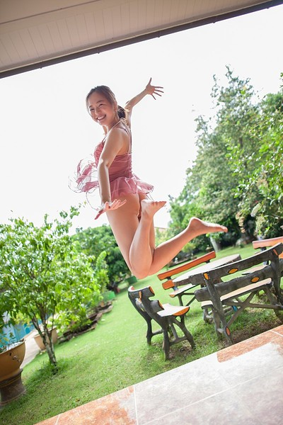 Mayumi Yamanaka in Pink Smile from All Gravure