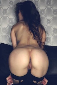Exotic brunette Irene Rouse bends over to show us her amazing ass