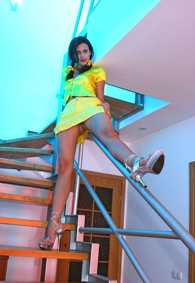 Lesley S in On the stairs from Stunning 18