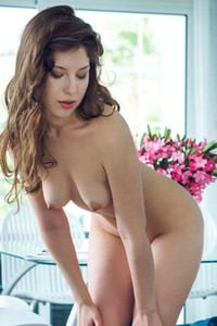 Satin Stone is ready to take her blue clothes off and show you her perfect natural body