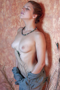 Fabulous brunette girl strips her transparent top giving us the perfect view of her feminine body