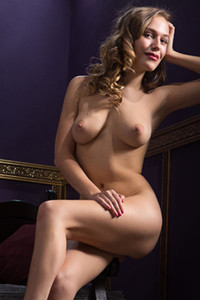 Vika P stunning blonde flashing with her well stacked all natural body