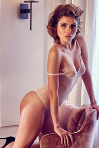 German sweetheart brunette Chiara Arrighi shows off her beautiful body on many different places
