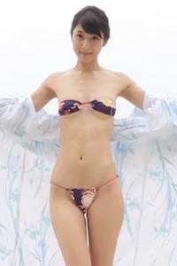 Sexy yet charming hottie Aya Kawasaki bares her smoking hot body in Miyuumania Scene 1