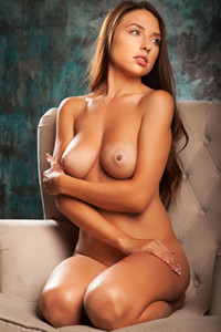 This brunette angel will make your dreams much much better with this photo set