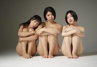 Hinaco and Sayoko in Tokyo threesome from Hegre Art