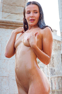 Brunette hottie Lika Dolce strips off her bikini and leaves us speechless with stunning posing