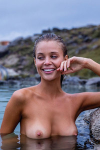 Perfect Allie Leggett poses naked in few locations taking our breath with her amazing skinny body