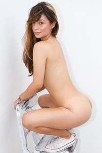 Brunette goddess Abella Jade dazzles us with her nubile body and super smooth and fair skin