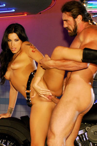 Fantastic vixen Roxy DeVille shows off her stunning body great ass and nice pussy in Bad Girls Ink 3
