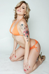 Adventurous and daring angel Dahlia Sky delights us in Bikini Body