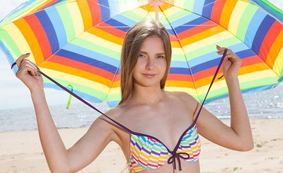 Dominika in Beach Kiss 1 from Showy Beauty