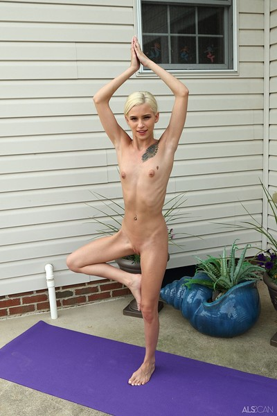 Kiara Cole in Hot Yoga from Als Scan