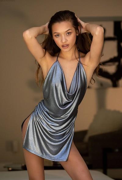 Alex De La Flor in Silver dress from Digital Desire