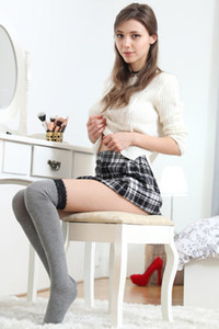 Brunette bomb Mila Azul is ready for school and she is getting horny