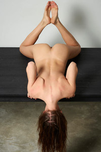 Veronika V flexible doll displays her magnificent natural body in many different poses