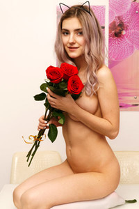 Top class beauty Lady Jay sensually poses in A Valentines Surprise