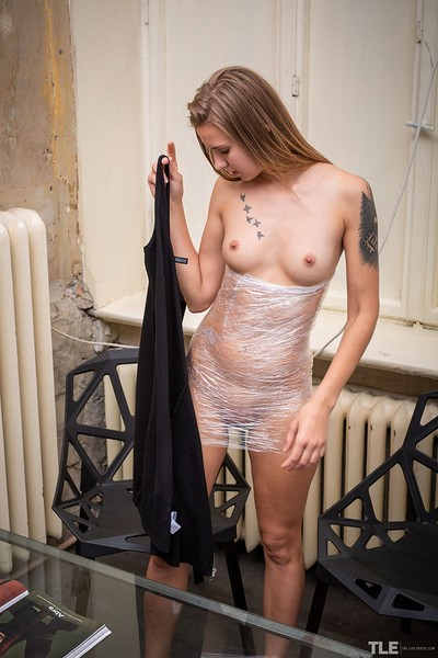 Lara A in Plastic Wrap 1 from The Life Erotic