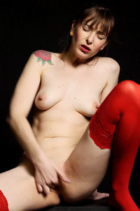 Amazing nubiles beauty Denise Martin gets nude and nasty in Red Rose