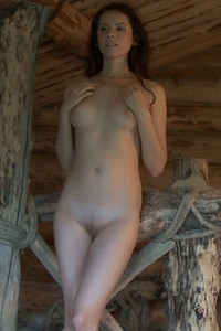 Natural brunette Swan lets us see her nice perky tits tight white ass and sensual posing skills