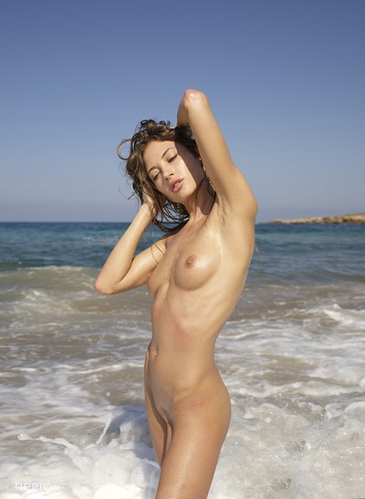 Taya in Cyprus Nude Beach from Hegre Art