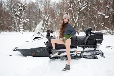 Leona Mia in Snowmobile from Watch 4 Beauty