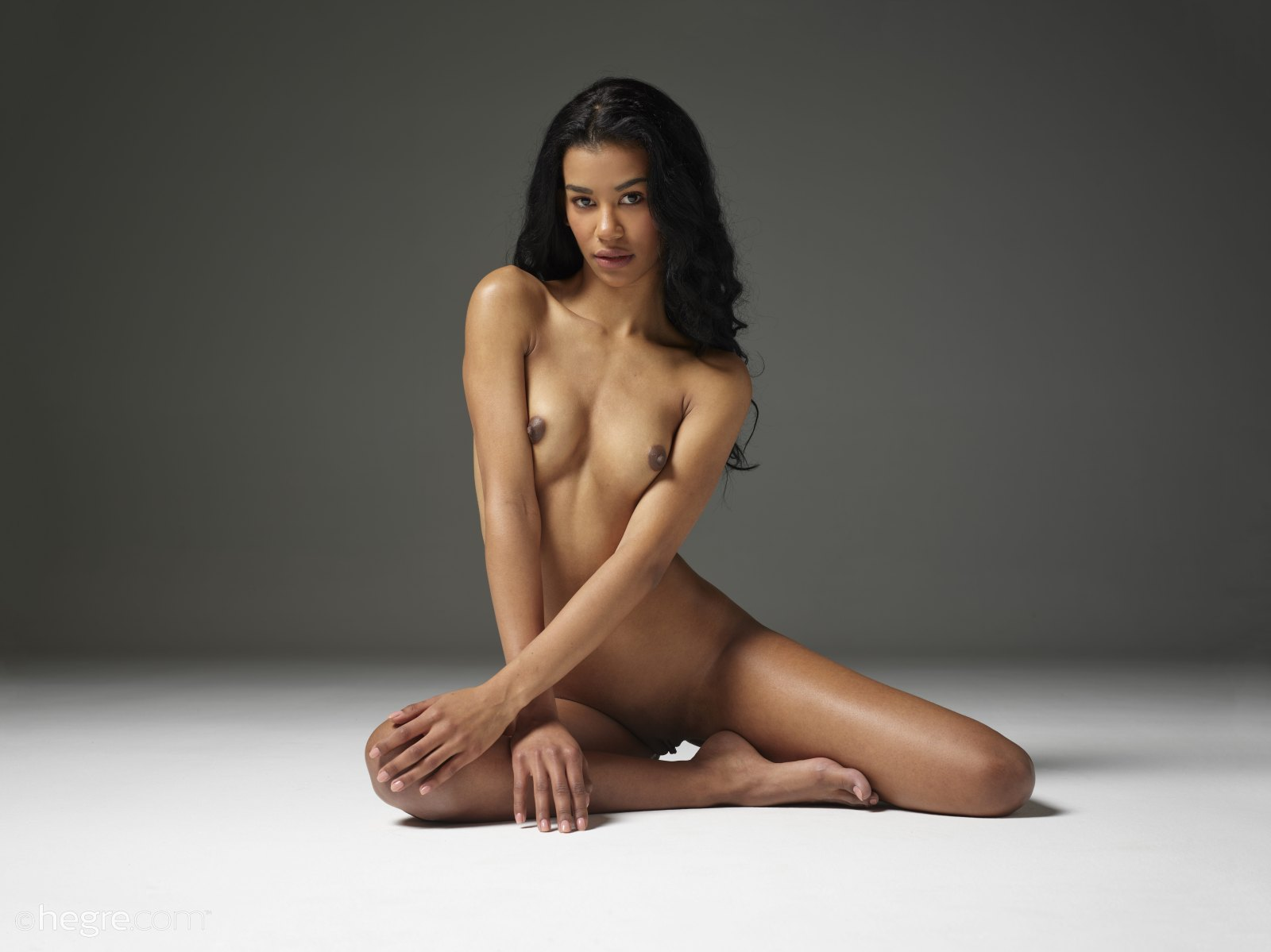Ira nude in white lingerie