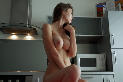 Mila Azul in Coffee Boost from Met Art