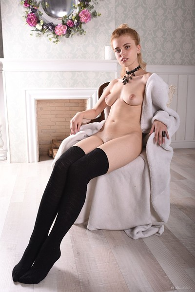 Roxi A in Black Stockings from Erotic Beauty