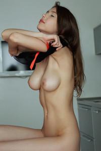 Brunette goddess Mila Azul takes off her sexy underwear to show us her divine body
