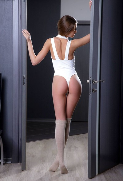 Demida in White bodysuit from Digital Desire