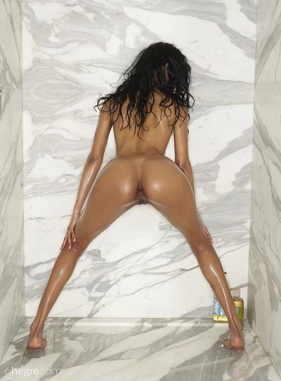 Angelique in Shower Scene from Hegre Art
