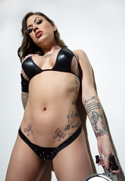 Karmen Karma in Made With Leather from Penthouse