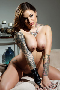 Graceful penthouse beauty Karmen Karma nude in Made With Leather