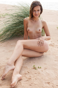 Skinny and small titted girl Lada A is sunbathing on the hottest way possible