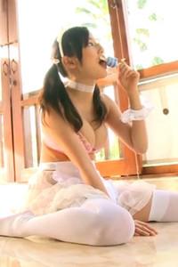 Daring and youthful all gravure girl Kaho Takashima delights us in Iroka Scene 4