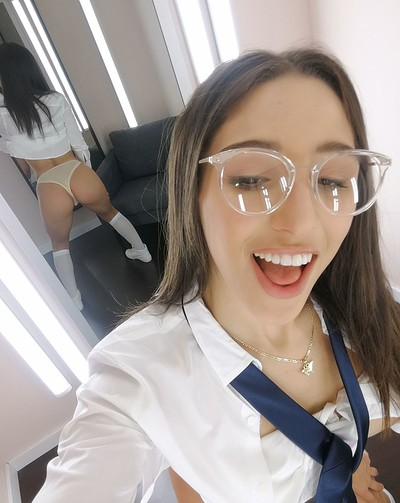 Abella Danger in Private selfies from Fitting Room