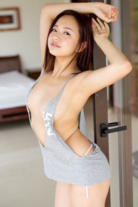 Flirty and playful babe Mayumi Yamanaka delightfully poses in How About Breakfast