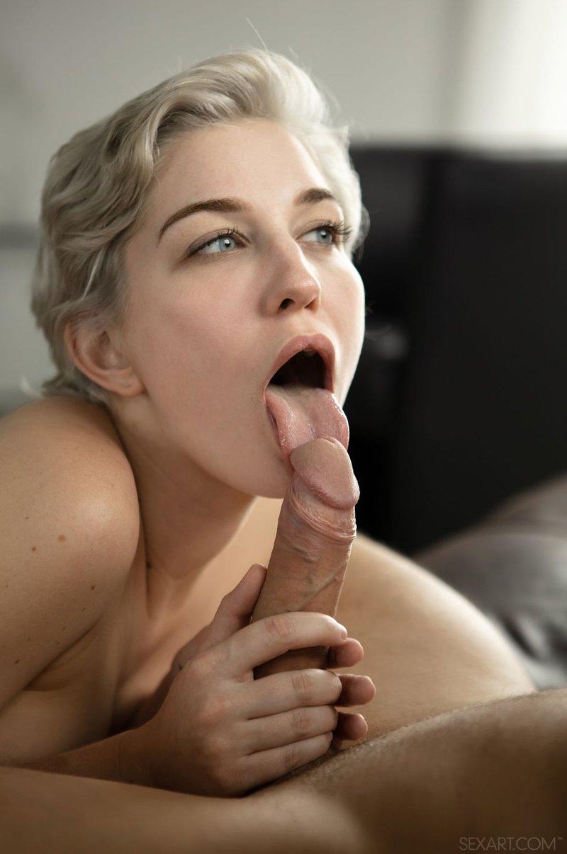 Skye blue worships her neighbor's impressive black shaft