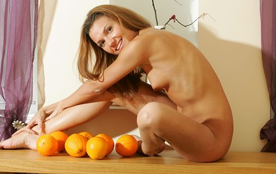 Kristina in Girl with oranges from Stunning 18