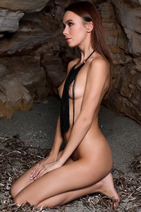 Beautiful Serafina is presenting us her natural slim fit body as she poses topless