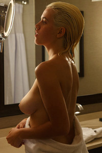 Beautiful blonde Peach Kennedy lets us get under the shower with her and enjoy her busty body