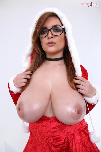 Tessa Fowler in Santa Babe Set 2 from Pinup Files