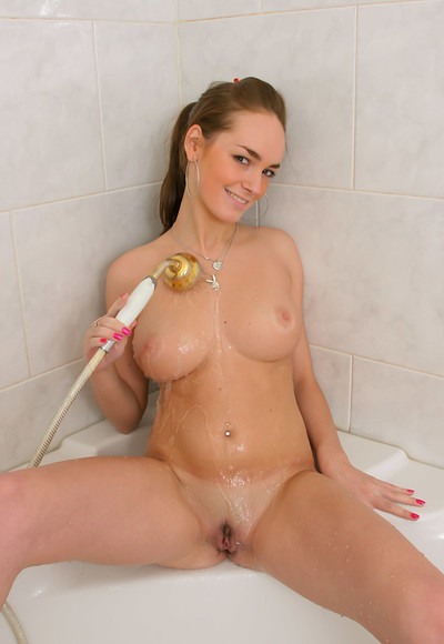 Milana F in Bathroom from Stunning 18