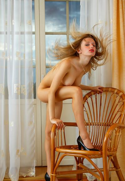 Christy V in Window from Stunning 18