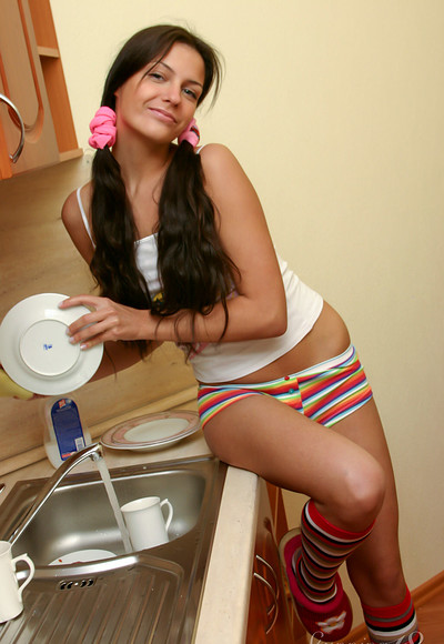 Isabella in Isabella Washing Dishes from Stunning 18