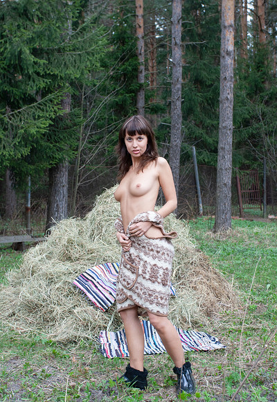 Anna M in In the Hayloft from Stunning 18