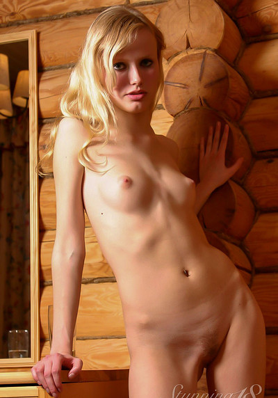 Yana F in Cabin from Stunning 18