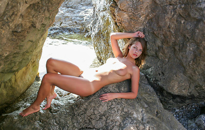 Elle Y in Elle Naked Lake from Stunning 18