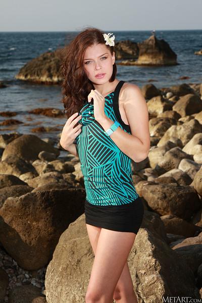Liza J in Beachcomber from Metart